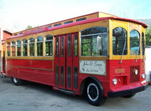 Our Red San Francisco Trolley Bus
